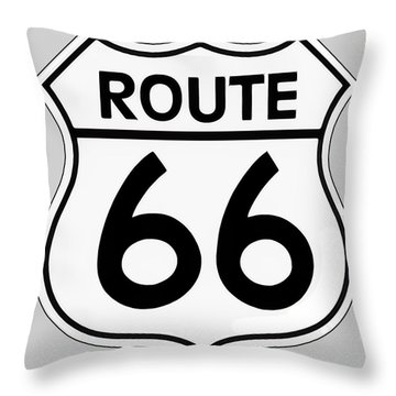 Route 66 Sign Throw Pillow