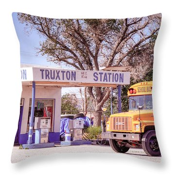 Throw Pillow featuring the photograph Route 66 Impression by Juergen Klust