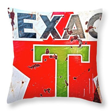 Route 66-texaco Throw Pillow