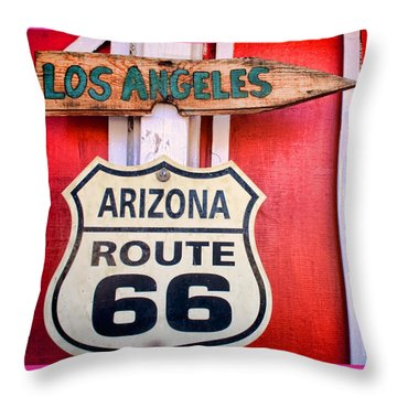 Route 66 To La Throw Pillow