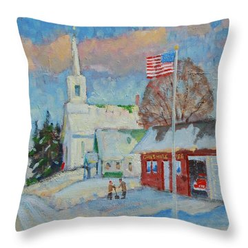 Route 8 North Throw Pillow