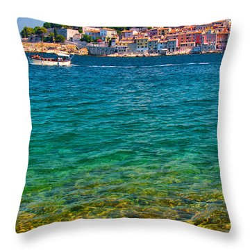 Rovinj Croatia Throw Pillow by Graham Hawcroft pixsellpix