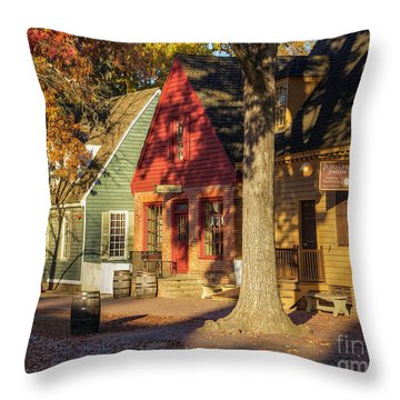 Row Houses Duke Of Gloucester Colonial Williamsburg Throw Pillow