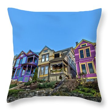 Row Houses Throw Pillow