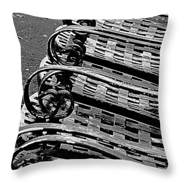 Row Of Chairs Throw Pillow