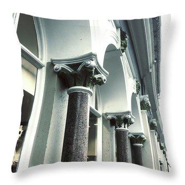 Row Of Columns Throw Pillow