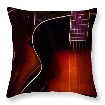 Row Of Guitars Throw Pillow