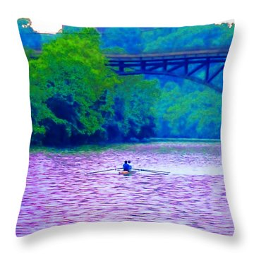 Row Row Row Your Boat Throw Pillow by Bill Cannon