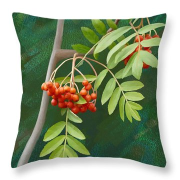 Rowan Tree Throw Pillow