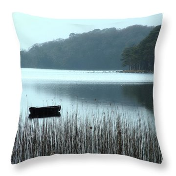 Rowboat On Muckross Lake Throw Pillow