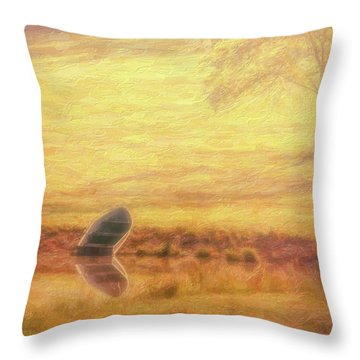 Throw Pillow featuring the photograph Rowboat by Tom Mc Nemar