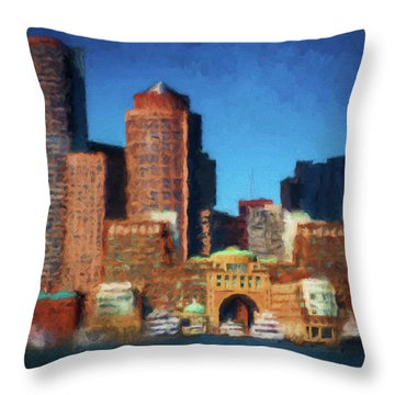 Rowes Wharf Boston Throw Pillow