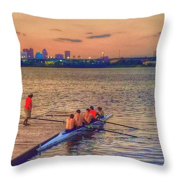 Rowing Club Throw Pillow