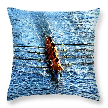 Rowing In Throw Pillow by David Lee Thompson