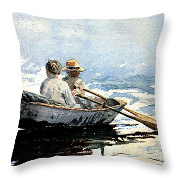 Rowing The Boat Throw Pillow