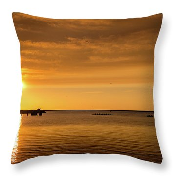 Throw Pillow featuring the photograph Rowingteam by Onyonet  Photo Studios