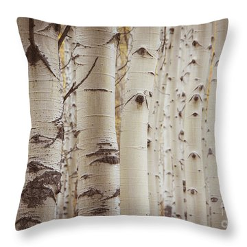 Rows Throw Pillow by The Forests Edge Photography - Diane Sandoval