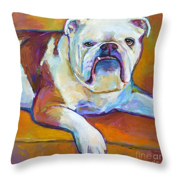Throw Pillow featuring the painting Roxi by Robert Phelps