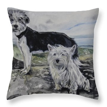 Roxie And Skye Throw Pillow