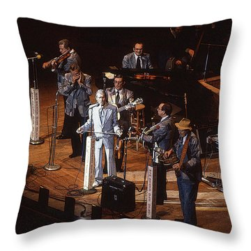 Roy Acuff At The Grand Ole Opry Throw Pillow by Jim Mathis