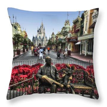 Roy And Minnie Mouse Walt Disney World Mp Throw Pillow