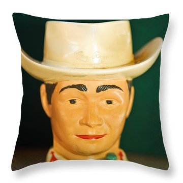 Roy Rogers Cup Throw Pillow by Susan Leggett