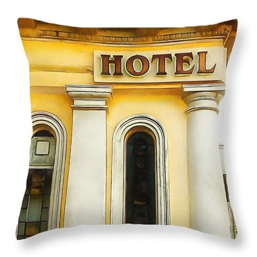 Royal Albion Hotel Brighton Throw Pillow