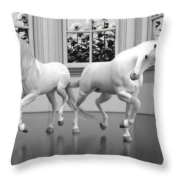 Royal Arms Throw Pillow by Betsy Knapp