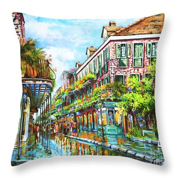 Royal At Pere Antoine Alley, New Orleans French Quarter Throw Pillow
