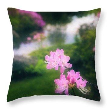 Royal Azaleas At Asticou Azalea Garden Throw Pillow