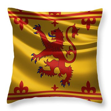 Royal Banner Of The Royal Arms Of Scotland Throw Pillow