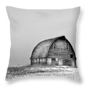 Royal Barn Bw Throw Pillow by Bonfire Photography