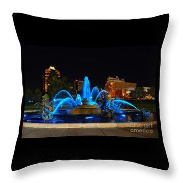 Royal Blue J. C. Nichols Fountain  Throw Pillow