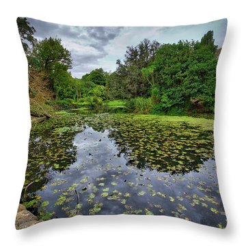 Throw Pillow featuring the photograph Royal Botanical Gardens, Melbourne by Ross Henton