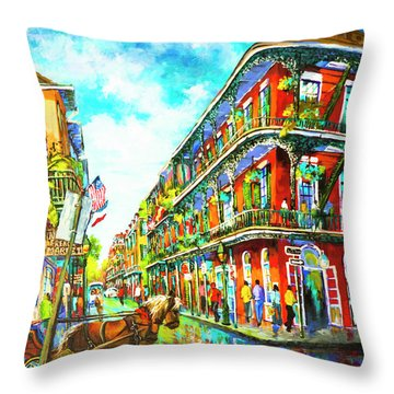 Royal Carriage - New Orleans French Quarter Throw Pillow