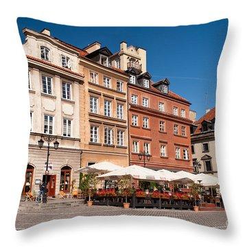 Royal Castle Square Architecture Throw Pillow