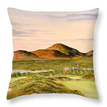 Royal County Down Golf Course Throw Pillow by Bill Holkham