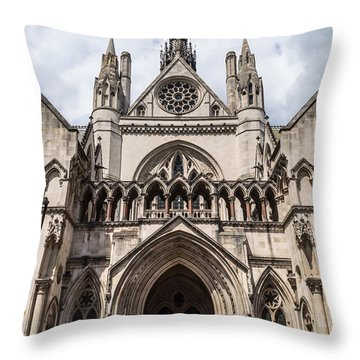 Royal Courts Of Justice In London Throw Pillow