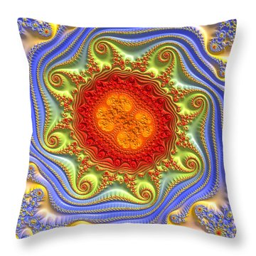 Royal Crown Jewels Throw Pillow
