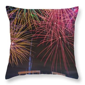 Royal Fireworks Throw Pillow