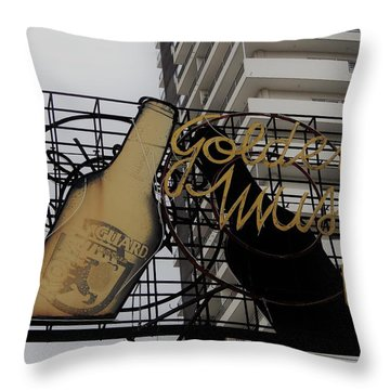 Royal Guard Cerveza And Golden Music Sign Throw Pillow
