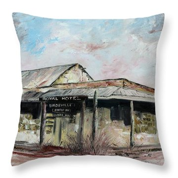 Royal Hotel, Birdsville Throw Pillow