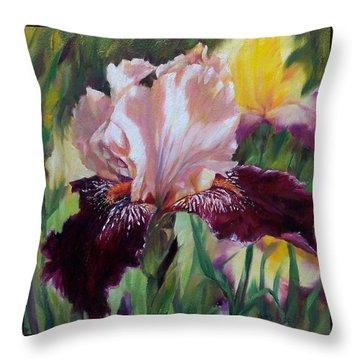 Royal Iris Throw Pillow by Donna Munsch