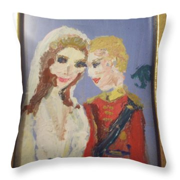 Royal Kiss Throw Pillow by Judith Desrosiers