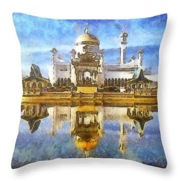 Royal Mosque  Throw Pillow