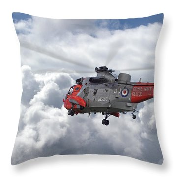 Throw Pillow featuring the photograph Royal Navy - Sea King by Pat Speirs