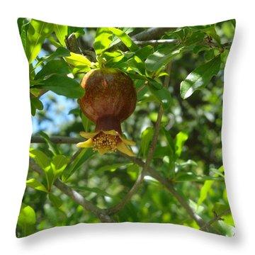Royal Onion Pomegranate Throw Pillow