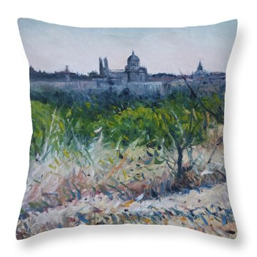 Royal Palace Madrid Spain 2016 Throw Pillow by Enver Larney