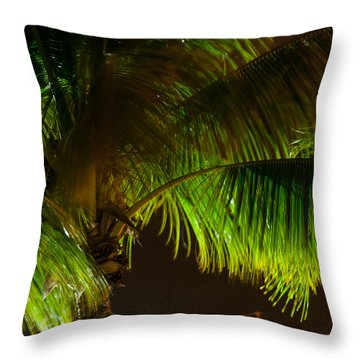 Royal Palm Night Out Throw Pillow