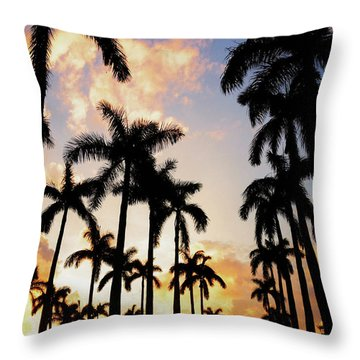 Royal Palm Way Throw Pillow